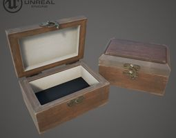 3D asset Wooden Ring Box