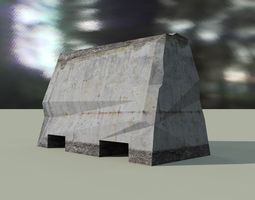 3D model road barrier fbx