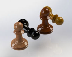 3D print model 3d Chess Pawn