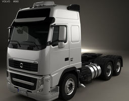 3D model Volvo FH Tractor Truck 3-axle 2008