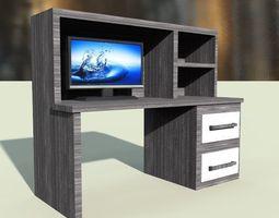 tv desk 3D asset