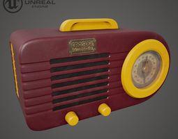 3D asset game-ready Vintage Radio