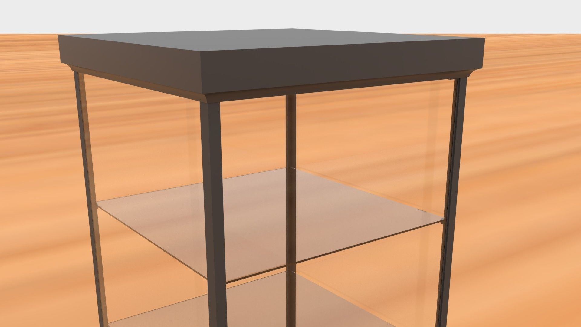 ... Glass Cabinet 3d Model Obj Mtl 3ds Fbx Dae 7 ...