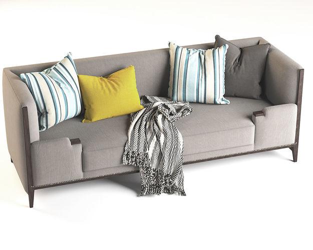 ... Hickory Lounge Sofa Furniture 3d Model Max Obj Mtl 3ds Fbx Stl ...