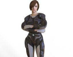 Sci Fi Woman 3D asset