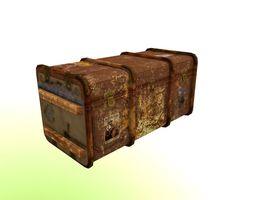 Old style vintage trunk 3D asset VR / AR ready