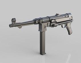 World War 2 Machine Gun 3D model PBR