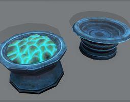3D asset Stylized brazier