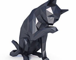 Cat Low Poly v1 3D model low-poly