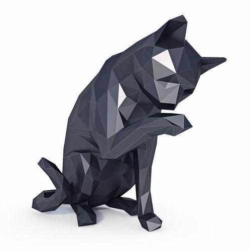 cat low poly v1 3d model low-poly max obj mtl 3ds fbx stl sat 1