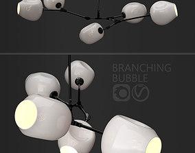 Branching bubble 5 lamps by Lindsey Adelman MILK BLACK 3D