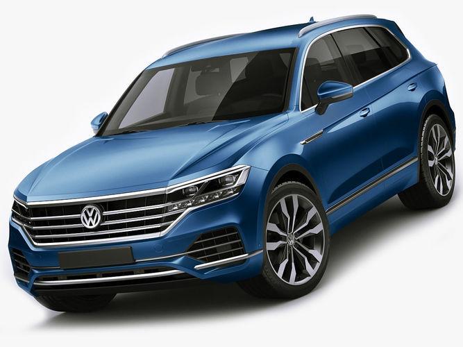 volkswagen touareg 2019 3d model max obj mtl 3ds fbx c4d lwo lw lws 1