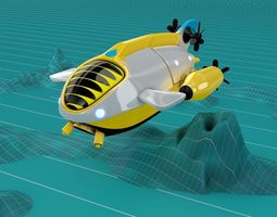 3D Submarine Balloon Ship