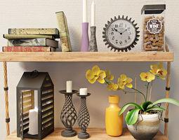 clock Decoration set 3D model