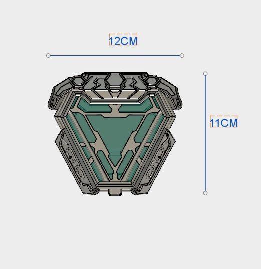 ... New Arc Reactor Iron Man Infinity War 3d Model Dxf Stl 4 ...