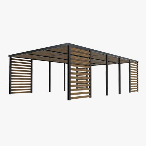 wood patio sunshade 3d model max obj mtl fbx mat 1