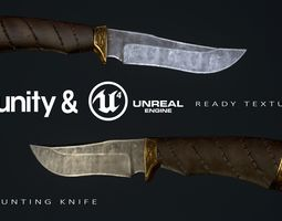 Hunting Knife BEAR 3D model low-poly