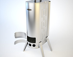 SiberStove Portable Wood Smoking Stove 3D model 1