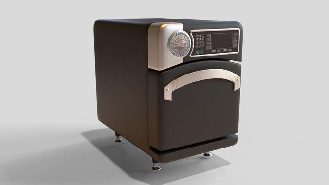 industrial oven 3d model low-poly fbx blend dae 1