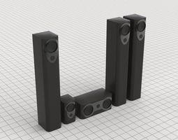 3D asset Sound Set Parts