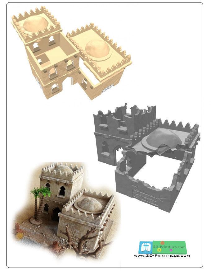 modular arabic building set -stl file-
