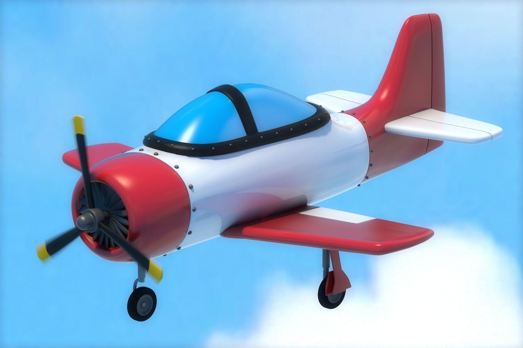 Cartoon Airplane 3d Asset Cgtrader