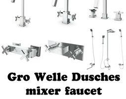 Gro Welle Dusches mixer faucet Collection 3D