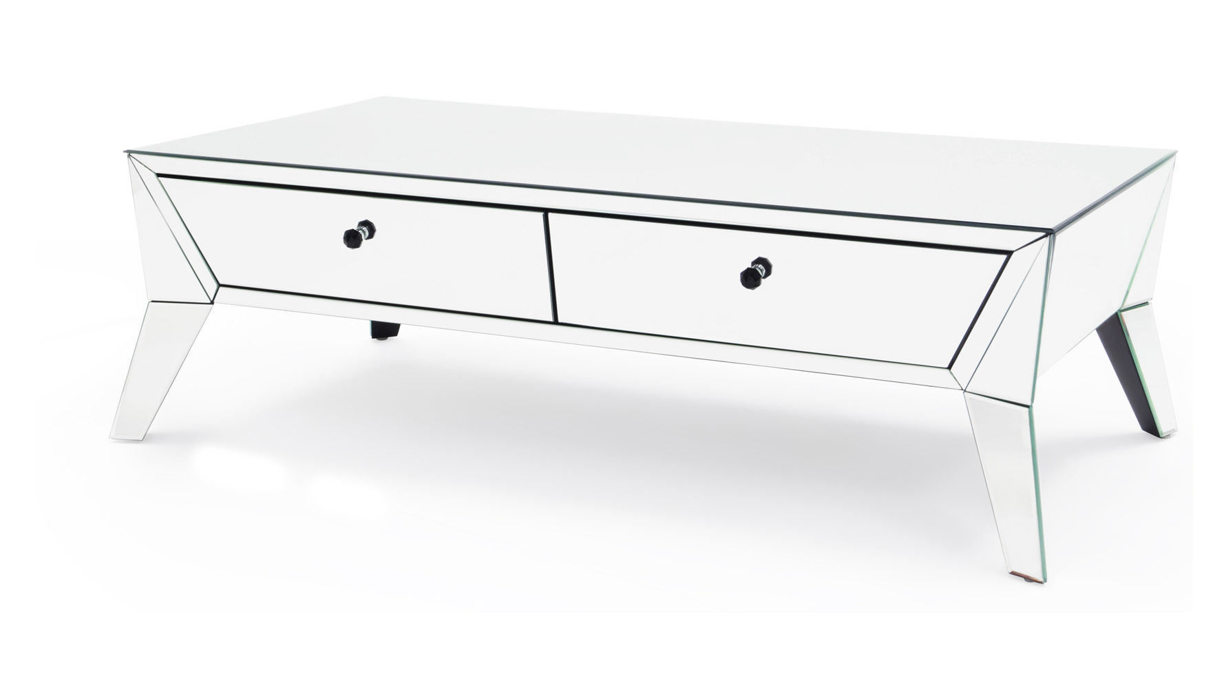 Lave mirrored coffee table and end table
