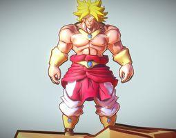 realtime broly legendary super saiyan animated 3d model