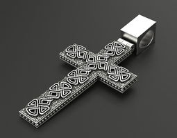 Cross Celtic pattern 3D print model