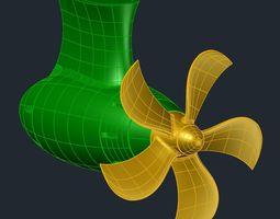 3D print model 5 Blade Propeller D340