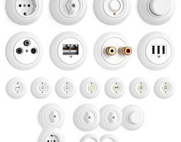 Switches and sockets THPG Porcelain Covering 3D