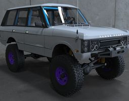 3D model Land rover Range rover classic 4x4 off road 2