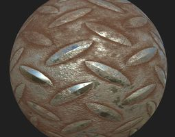 3D model metal rusty floor