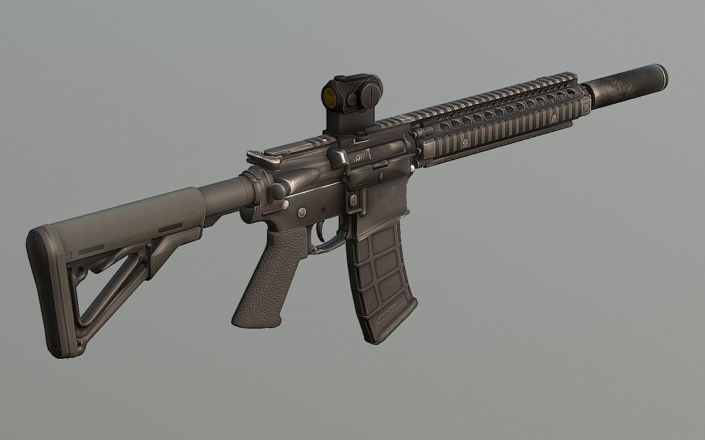 Colt M4 MK18 Tactical PBR | 3D model