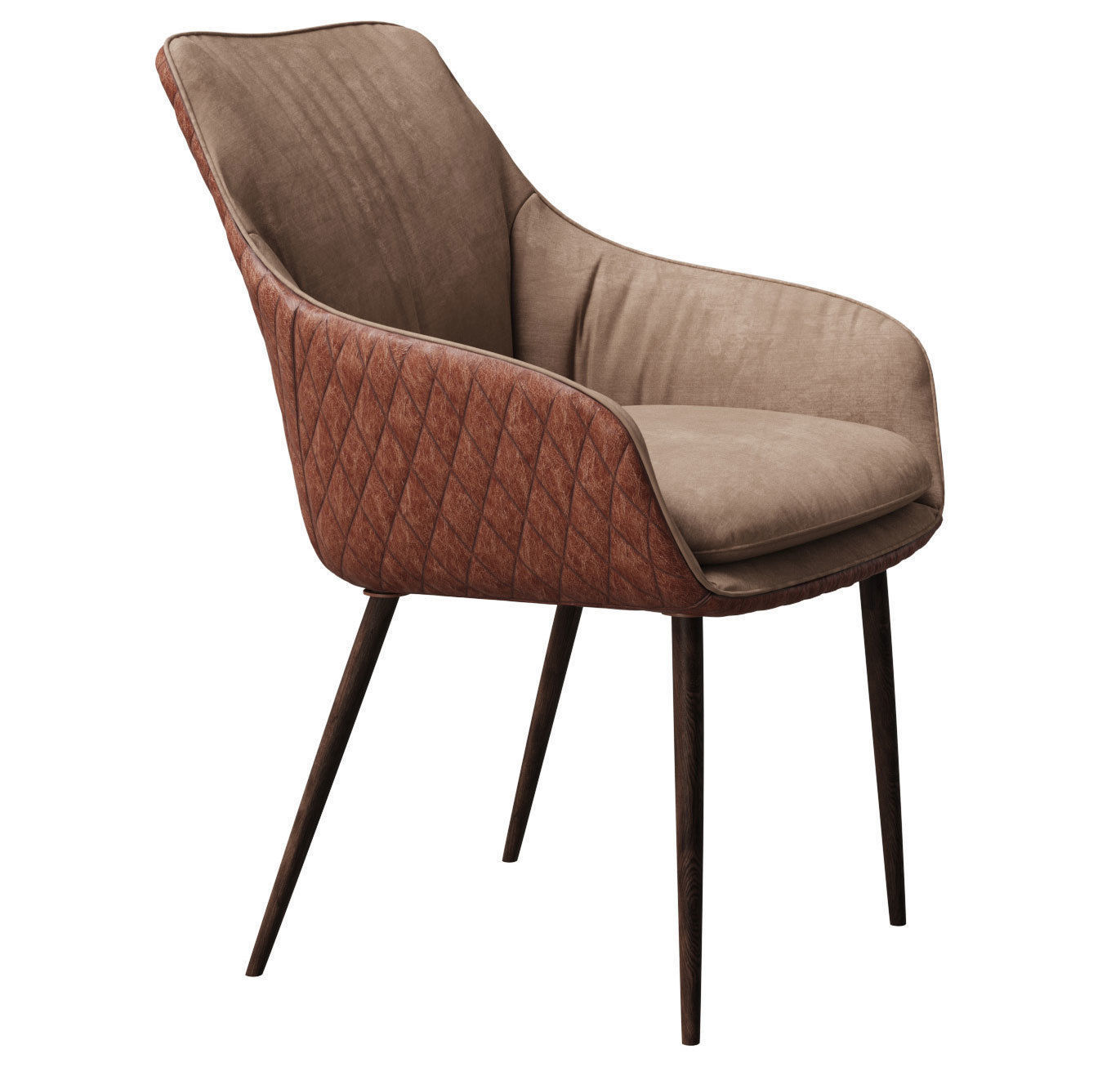 ... Chair Chrissy Pu By Richmond And Aged Table With Table Setting 3d Model  Max Obj Mtl ...