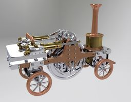 Patrick Stirling Traction Engine 3D model