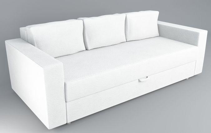 Ikea Friheten sofa bed ikea friheten 3d asset realtime cgtrader