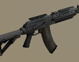 3D asset PBR Assault Rifle AK Spetcnaz