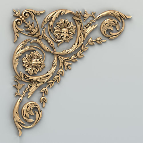 carved decor corner 010 3d model max obj mtl fbx stl 1