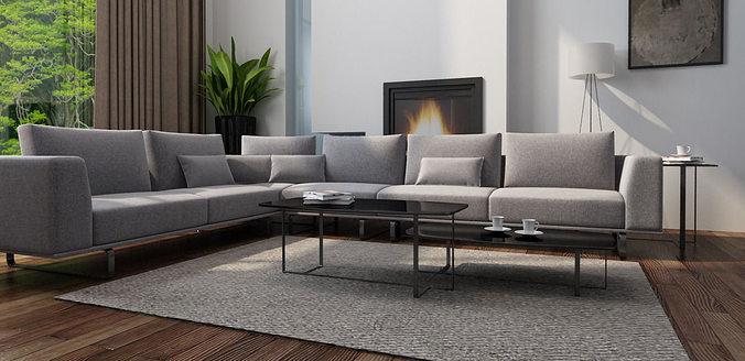 natuzzi sofa 3d model