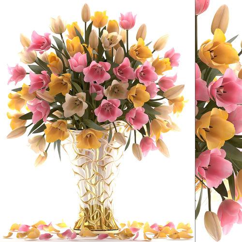 bouquet of tulips  3d model max obj mtl fbx 1