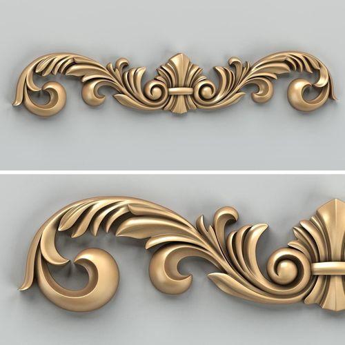 carved decor horizontal 024 3d model max obj mtl fbx stl 1