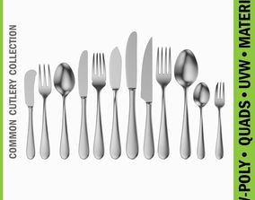 Common Cutlery Set 12 Pieces 3D model