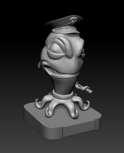bfe8ef539f0 Alien in pirate hat 3D print model