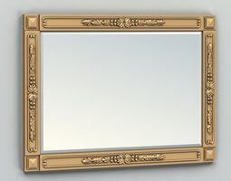 3D model Rectangle mirror frame 012