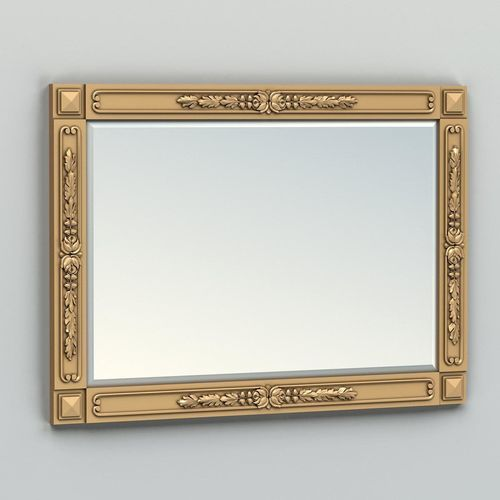 rectangle mirror frame 012 3d model max obj fbx stl 1