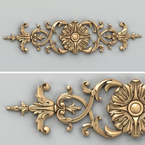 carved decor horizontal 025 3d model max obj mtl fbx stl 1