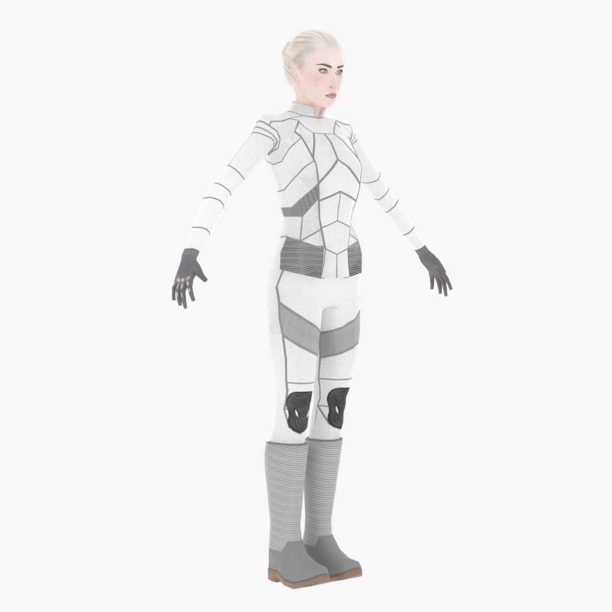 Sci-Fi Female Character in white