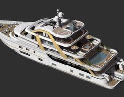 3D Luxury Yacht officer